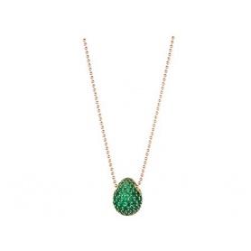 Tatiana Fabergè Halskette in Rosé Silber und grünen Zirkonen Green Eyes