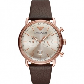 Uhr Armani Aviator Chrono vintage rosè AR11106