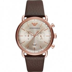 Watch Armani Aviator Chrono vintage rosè AR11106