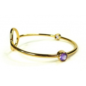 Emi & Eve Rigid Unity bracelet with Amethyst EEB046A