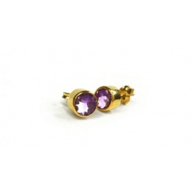 Emi & Eve Unity earrings with EEA049A Amethyst