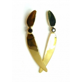 Emi & Eve River pendant earrings with onyx EEA051N