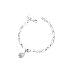 Tatiana Faberge chain bracelet with pavé egg pendant