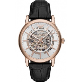 Emporio Armani Luigi automatische rosè Uhr AR60007