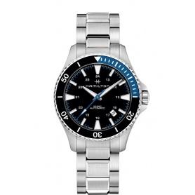 Khaki Navy Scuba Automatic Watch blue and black