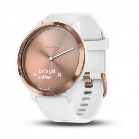 Garmin Vivomove HR Smartwatch Uhr, weiß und gold