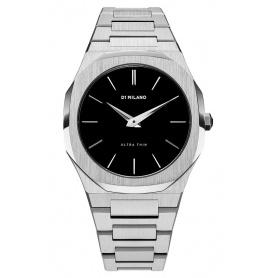 Milan D1 Uhr, Ultra Thin Line, achteckiges schwarzes Zifferblatt