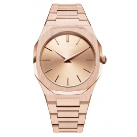 Uhr D1 Milano Ultra Thin Linie achteckig rosa UTBL02