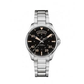 Hamilton Khaki Aviation day date automatic watch steel