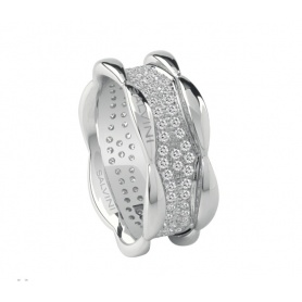 Salvini Sunny ring with white gold band and pavè diamonds