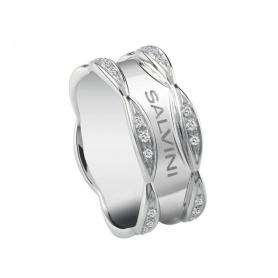 Salvini Sonniger Ring mit glänzendem Weißgold und Diamanten