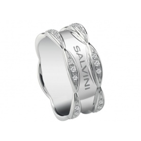 Salvini Sunny ring with shiny white gold band and diamonds