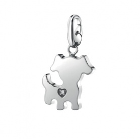 Salvini Charm dog pendant silver and diamond - 20077076