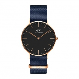 Daniel Wellington Bayswater watch 36mm rosè black