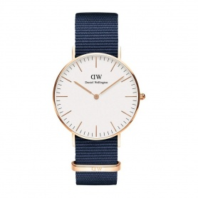 Daniel Wellington Bayswater 36mm rosè white watch