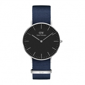 Daniel Wellington Bayswater 36mm silver black watch