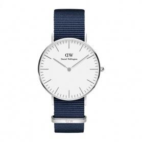 Daniel Wellington Bayswater 36mm silberne weiße Uhr