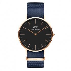 Daniel Wellington Bayswater Uhr 40mm rosè schwarz