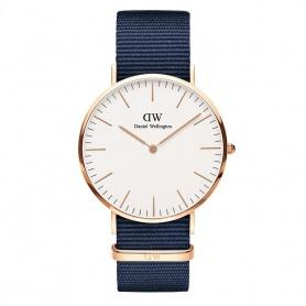 Daniel Wellington Bayswater 40mm rosè weiße Uhr