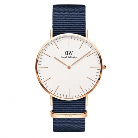Daniel Wellington Bayswater 40mm rosè white watch