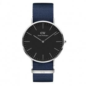 Daniel Wellington Bayswater Uhr 40mm silber schwarz