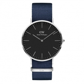 Daniel Wellington Bayswater watch 40mm silver black