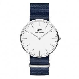 Daniel Wellington Bayswater Uhr 40mm silberweiß