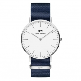 Daniel Wellington Bayswater watch 40mm silver white
