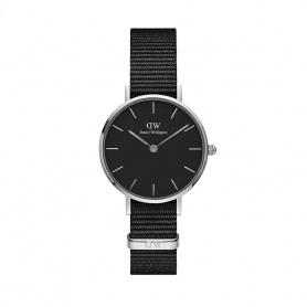 Daniel Wellington Cornwall 28mm silberne schwarze Uhr