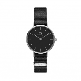Daniel Wellington Cornwall 28mm silver black watch