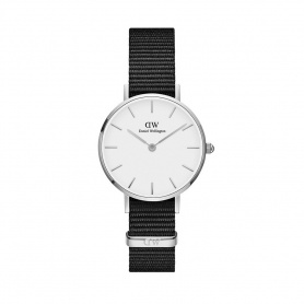 Daniel Wellington Cornwall 28mm silberne weiße Uhr