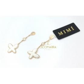 Pendenti per orecchini Mimì FreeVola in oro rosa, madreperla e Diamanti