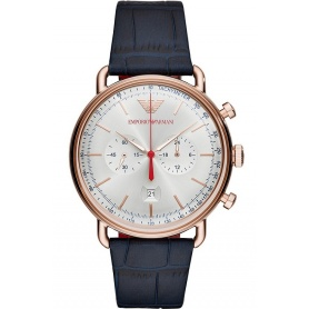 Armani Aviator Chrono vintage watch rosè AR11123