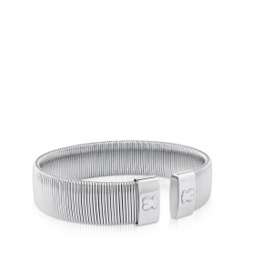 Tous Bulevard bracelet stainless steel silver bangle - 512661500