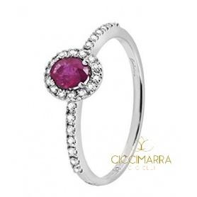 Salvini Dora kleiner Ring mit Rubin und Diamanten