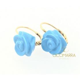 Mimi Grace Monachina earrings with turquoise roses