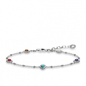 Thin chain bracelet and stones Thomas Sabo Ethnic Multicolor