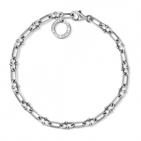 Interlocked Thomas Sabo chain bracelet with charm ring