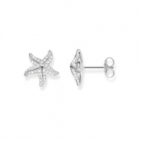 Thomas Sabo earrings Starfish silver and white cubic zirconia