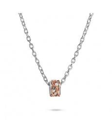 Pendente Filodellavita argento, oro rosa e diamante