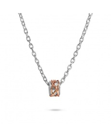 Silver Filodellevita pendant, rose gold and diamond