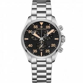 Hamilton watch Khaki Pilot Chrono steel - H76722131