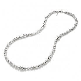 Giovanni Raspini Super Bowl necklace with hammered spheres