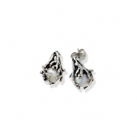 South Sea lobe earrings G.Raspini silver and pearl - GR10233