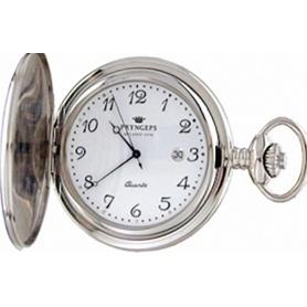 Orologio Pryngeps quartz da tasca in acciaio - T079