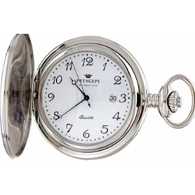 Pryngeps Quartz pocket watch in steel - T079