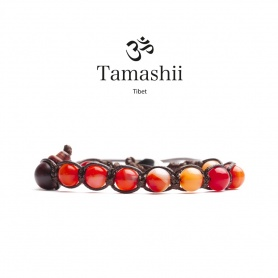 Bracciale Tamashii Agata Rossa Striata un giro - BHS900-118