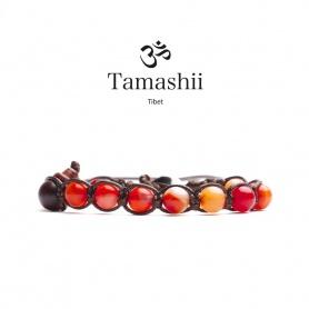 Tamashii Rot Achat Armband Striata eine Runde - BHS900-118