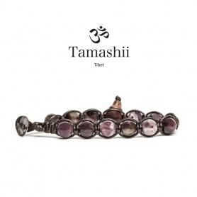 Bracciale Tamashii Charoit viola rosso un giro -BHS900-188