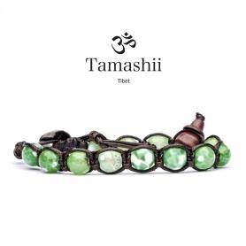 Bracciale Tamashii talismano Agata Verde Cracked